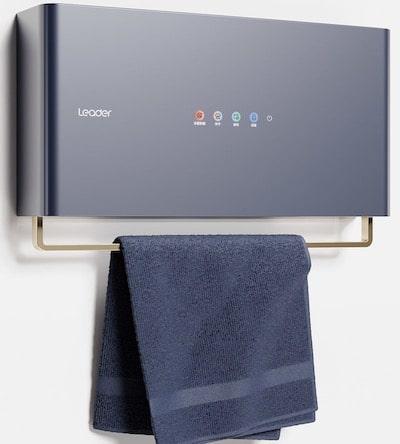 porte-serviettes bleu séchant