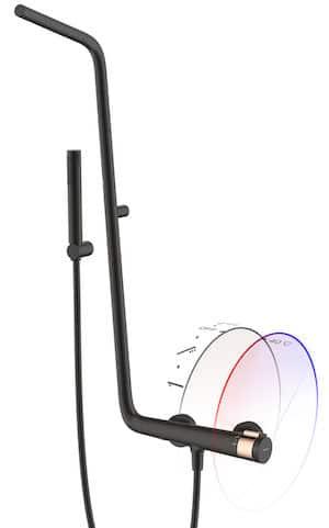 colonne de douche tubulaire noire