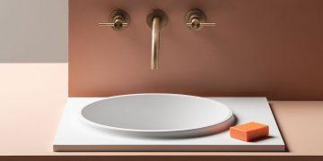 vasque blanche encastrée en solid surface