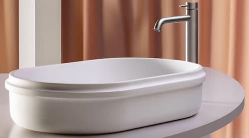 vasque ovale blanche en solid surface