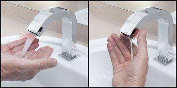 robinet sans contact distributeur de savon liquide