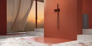 receveur de douche Betteair couleur terre cuite