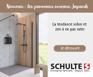 douche habillée de panneaux muraux japandi